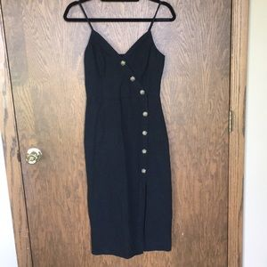 Abercrombie NWT black button up midi dress size XS